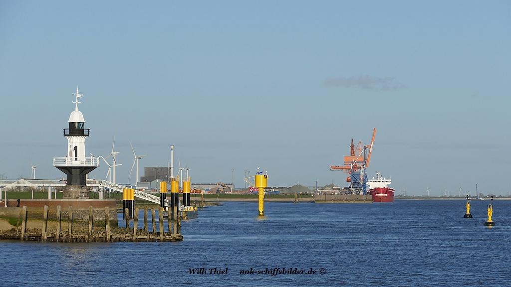 Mole 1- Anlegestelle der Lotsenboote- Elbe Hafen Brunsbüttel