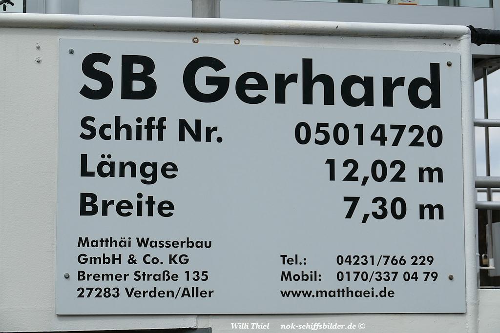 GERHARD Typ-Schild