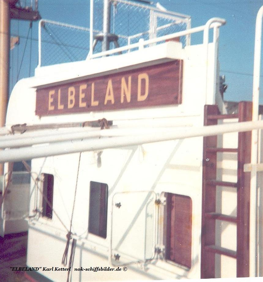 ELBELAND  Namensschild