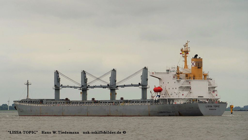 Lissa Topic, LBR, IMO 9251327 - Weser 16.07.2019