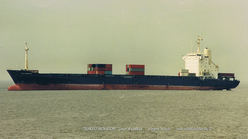 TOKYO SENATOR  Imo° 8408818   Weser Bremerhaven 05.1988.jpg