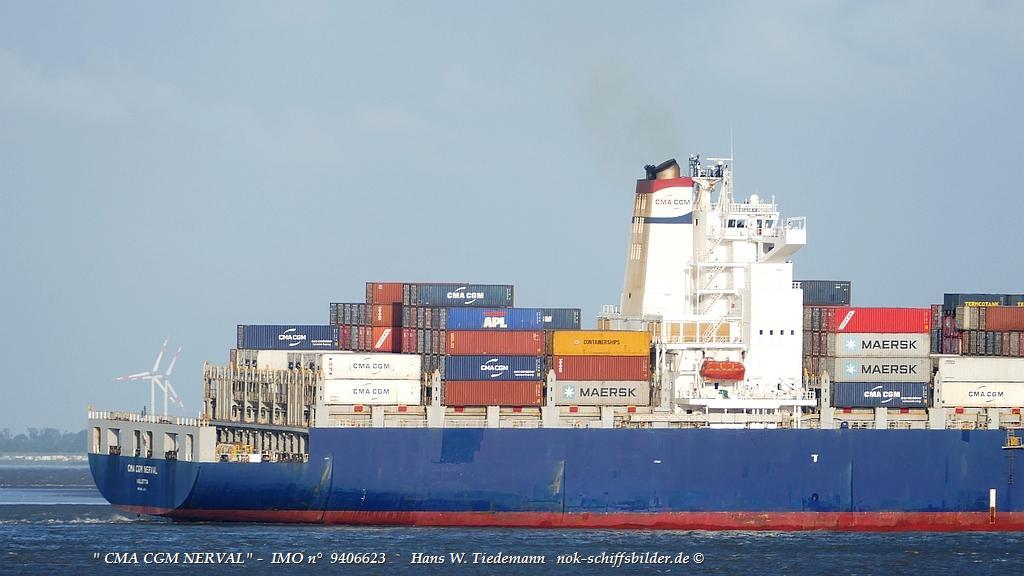 CMA CGM NERVAL  - Achterschiff