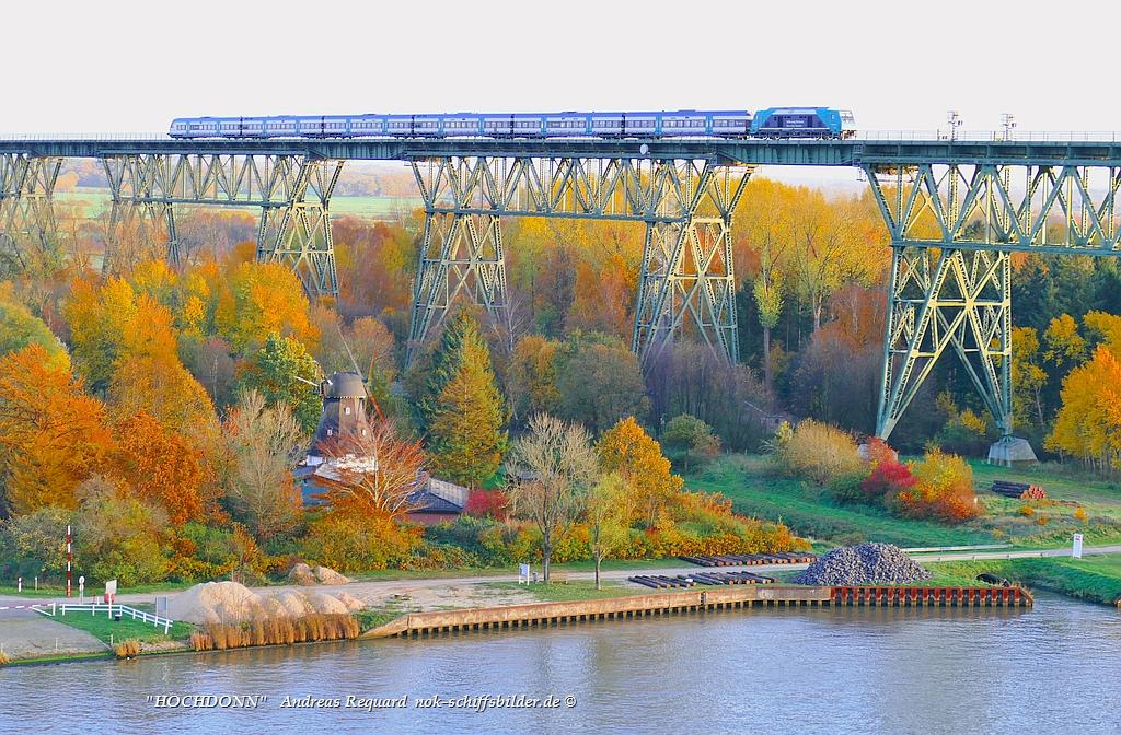 Hochdonn Eisenbahnhochbrücke /Hochzeitsmühle Aurora