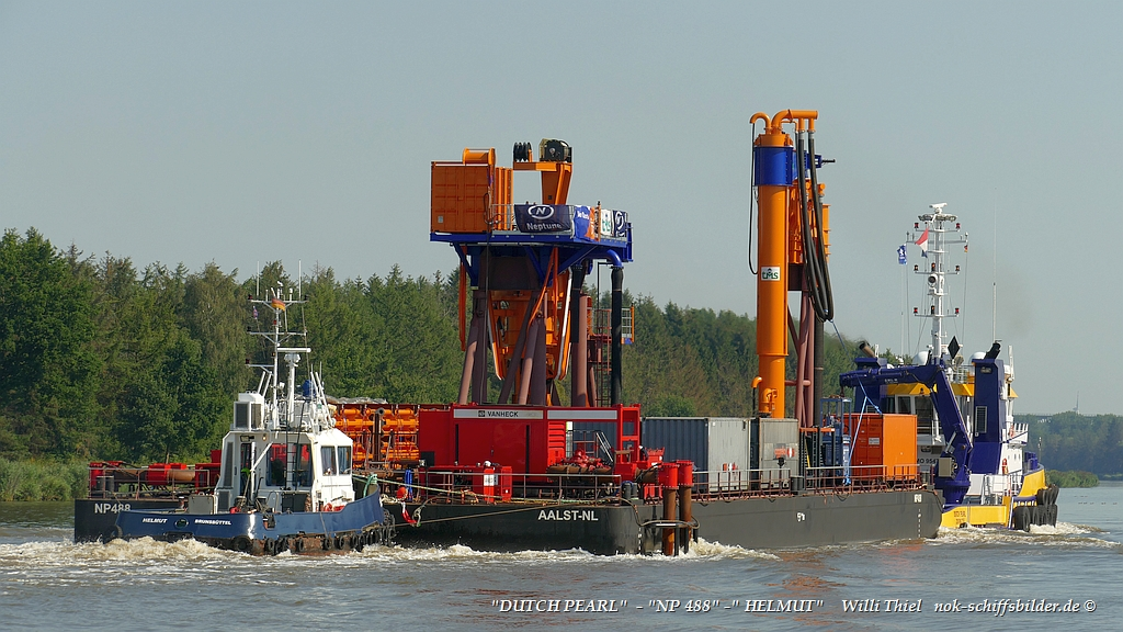 DUTCH PEARL + HELMUT with Barge NP 488