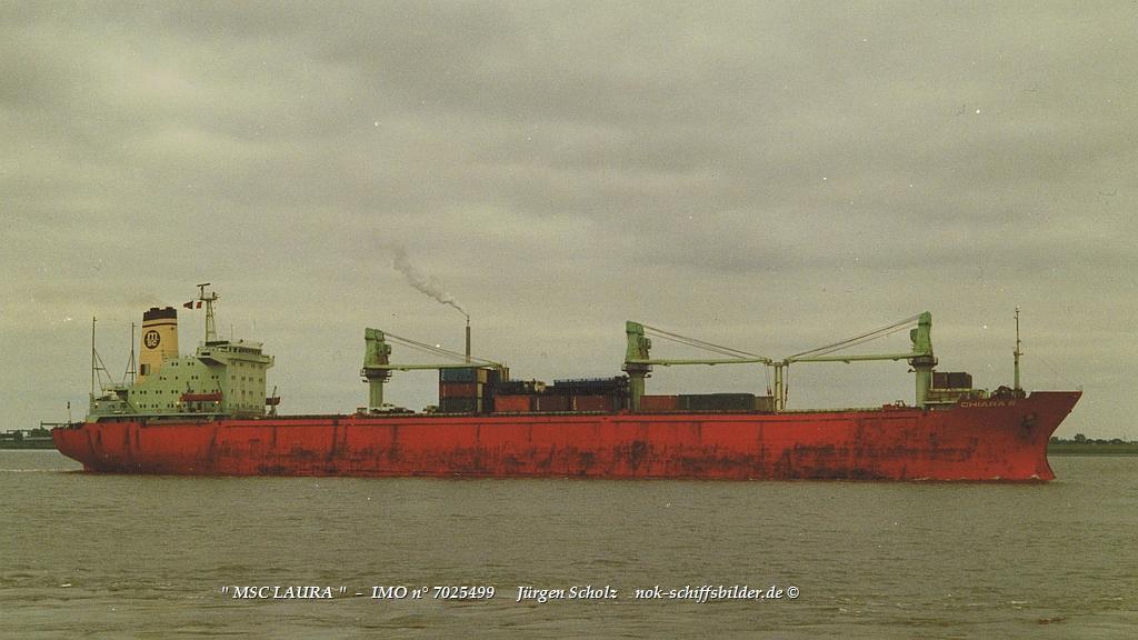 MSC LAURA  -  IMO n° 7025499  Weser-SEA 16.06.1988.jpg