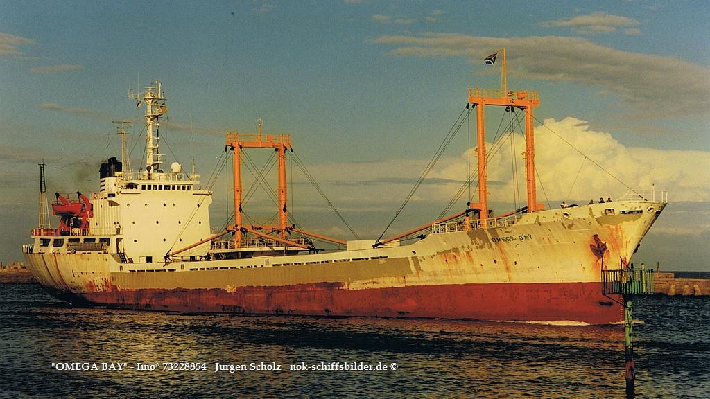 OMEGA BAY - IMO 7322885 Einl. Durban 12.12.1998.jpg