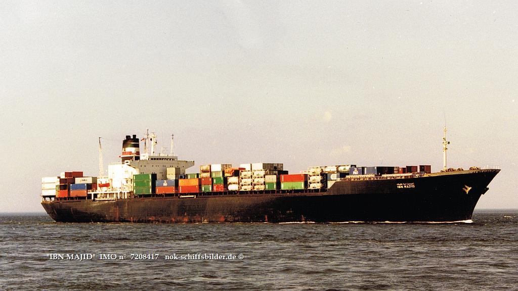 IBN MAJID   IMO n°  7208417  Elbe Cuxhaven 23.05.1992.jpg