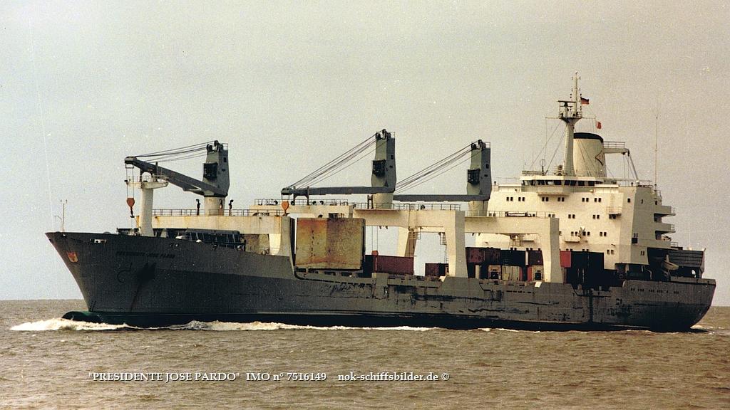 PRESIDENTE JOSE PARDO   IMO n° 7516149 Weser-Bremerhaven 10,07.1987.jpg