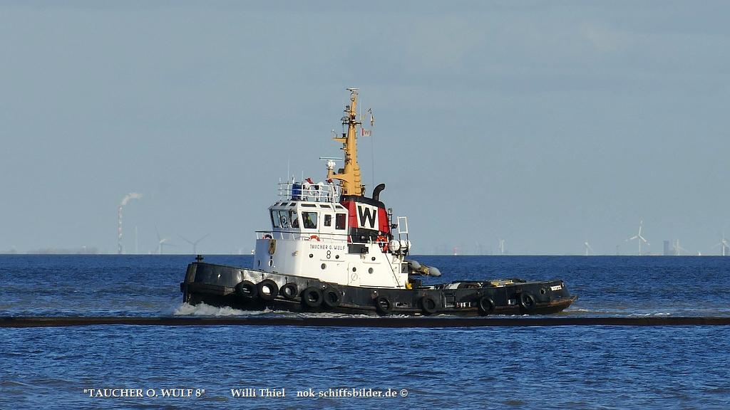 TAUCHER O.WULF 8  -  Superschlepp vor Cuxhaven