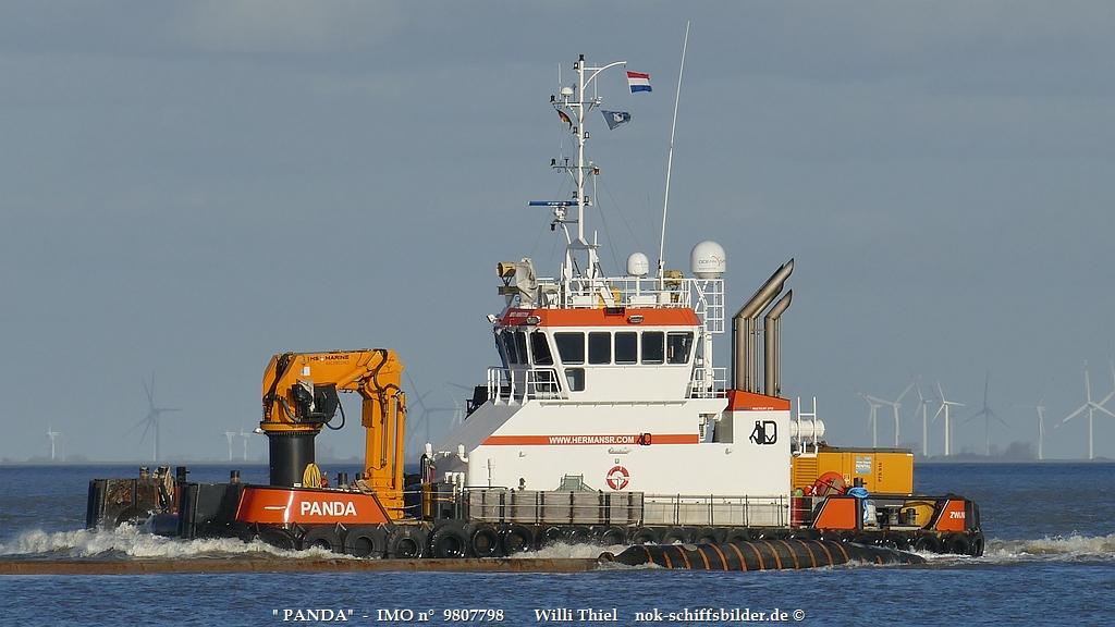 PANDA  - Superschlepp vor Cuxhaven