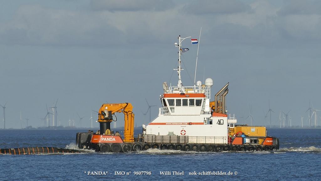 PANDA- Superschlepp vor Cuxhaven