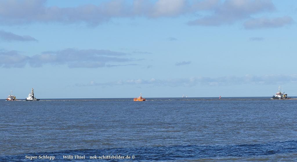 Superschlepp vor Cuxhaven