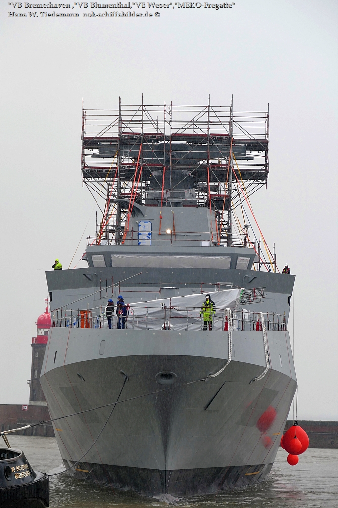 VB Weser + VB Blumenthal + VB Bremerhaven  mit MEKO-Fregatte