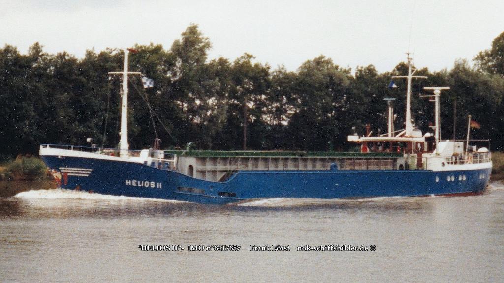 HELIOS II   IMO n°6417657NOK 04.08.1983.vor dem  Umbau