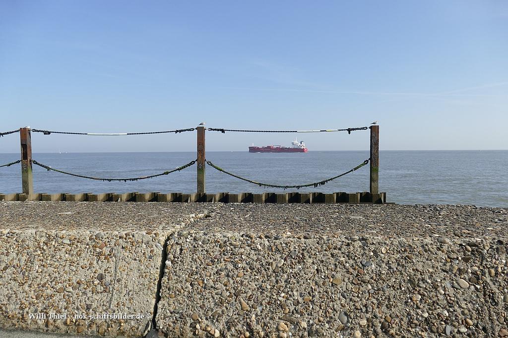 Die Elbe  bei  Cuxhaven....