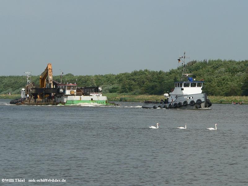 EOS -Barge & FELIX-Schwäne