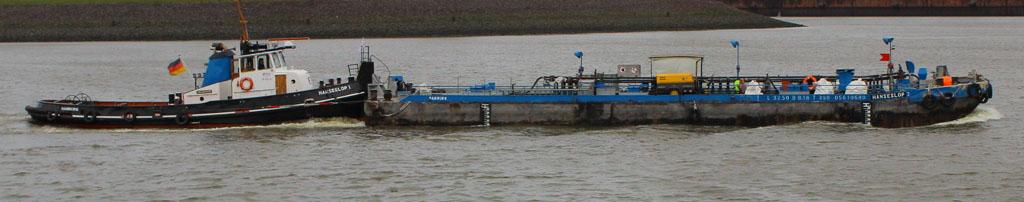 HANSESLOP 1 mit Barge HANSESLOP 2