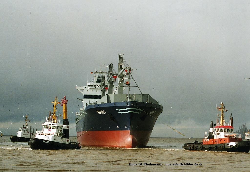 Weser bei Bremerhaven 04.2006