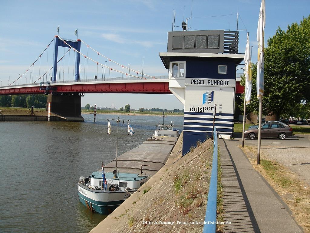 Rhein Pegelmesser