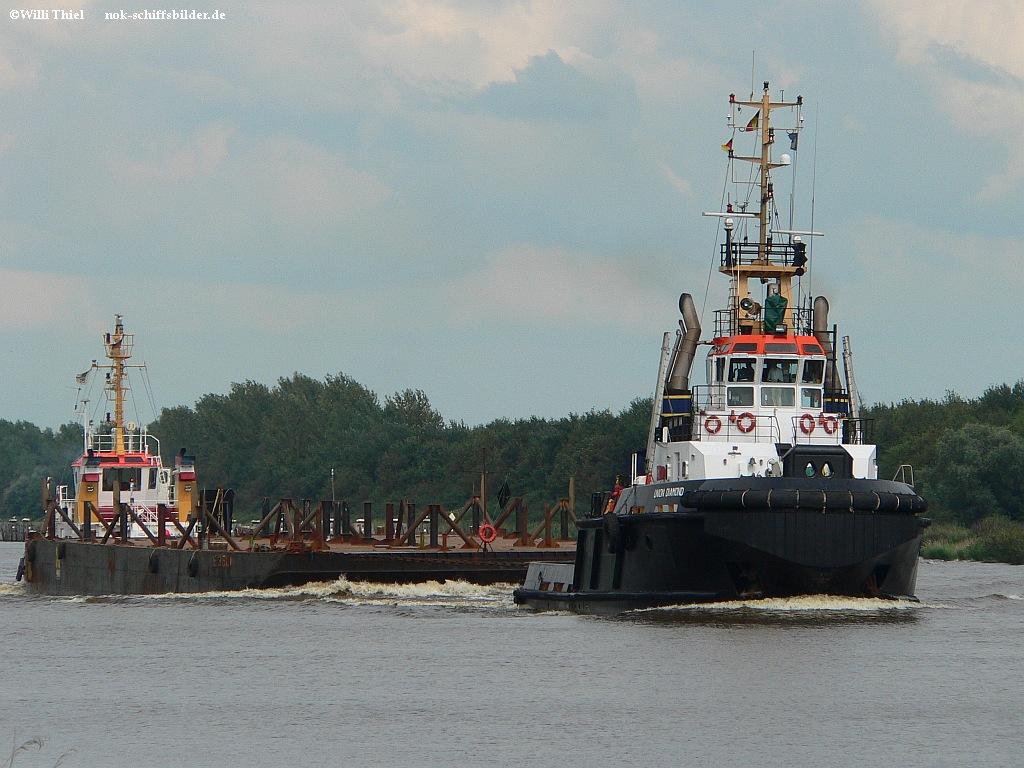 UNION DIAMOND - Barge E 3501  &  KITZEBERG