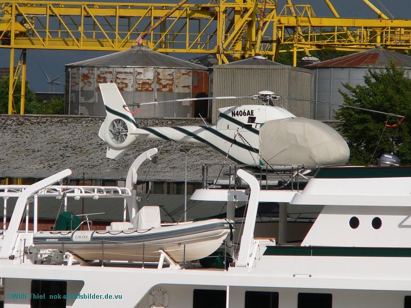 GALIXE Beiboot und Hubschrauber