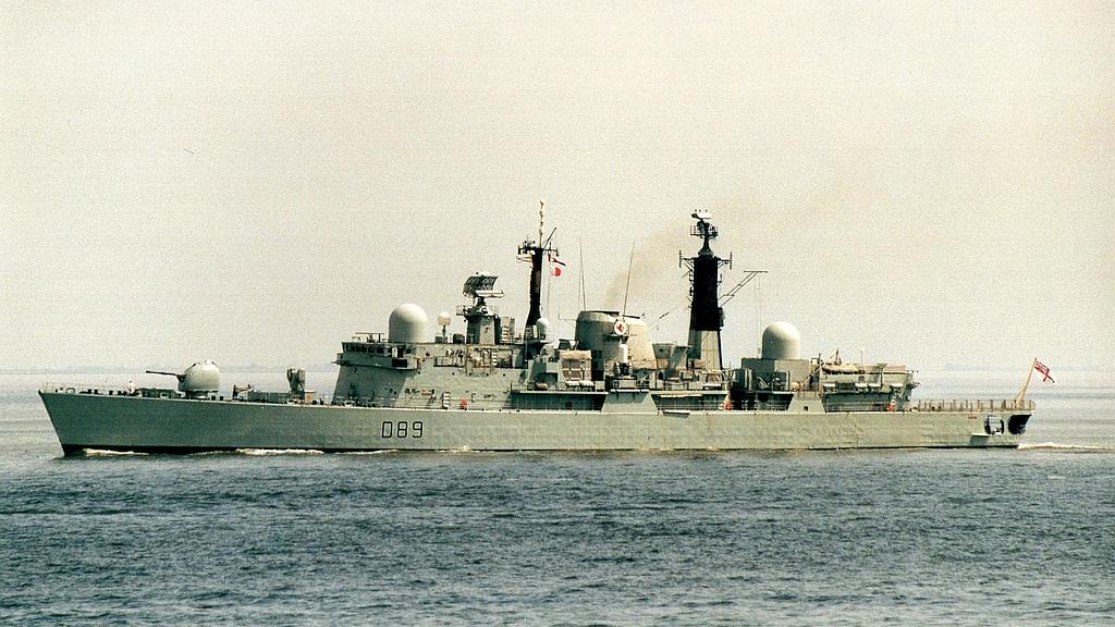 HMS Exeter D 89, -80, decomm. -11 - 20.05.02 Cux