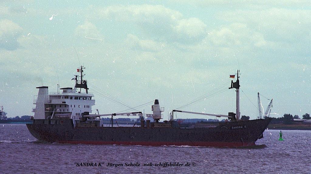 SANDRA K Weser Bremerhaven 07.1983