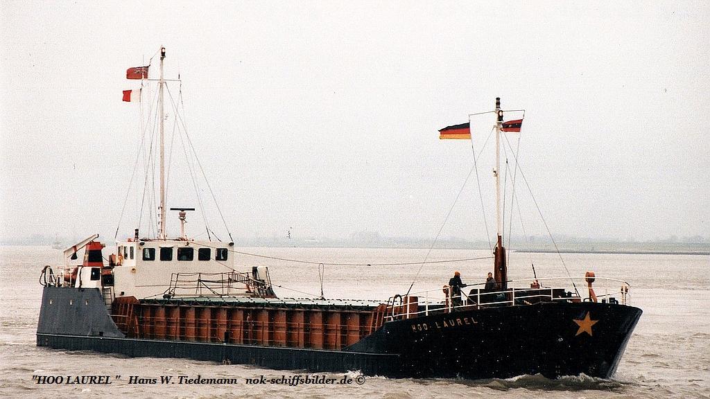Hoo Laurel, GBR, -84, 794 gt, 1.394 dwt - 20.11.94 Elbe.jpg