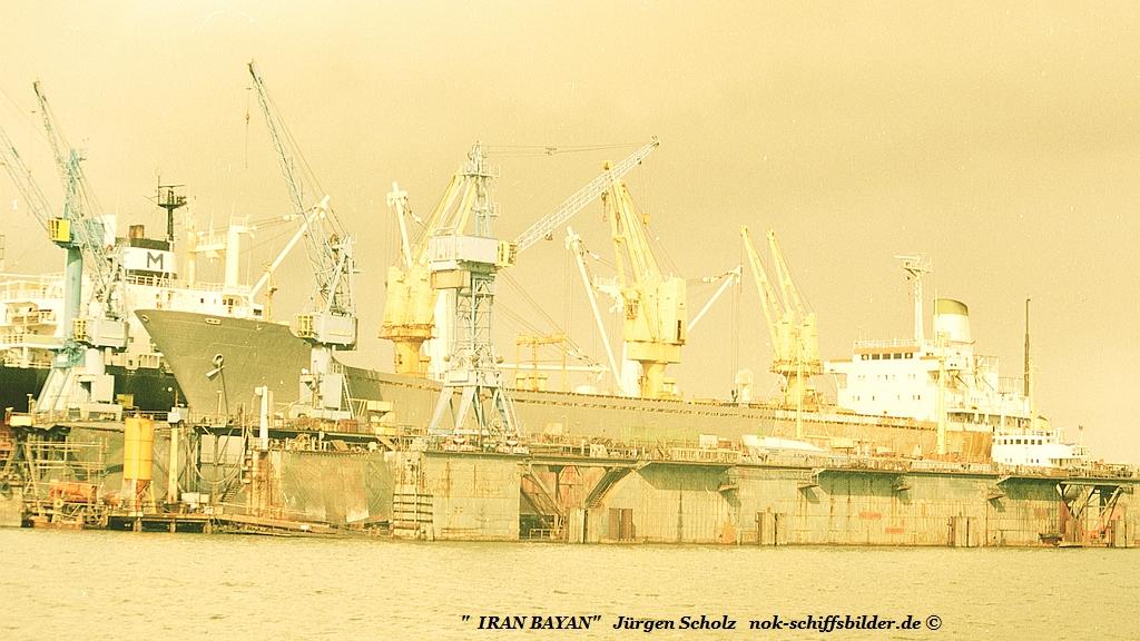 IRAN BAYAN bei Seebeck im Dock  Bremerhaven 09. 1990