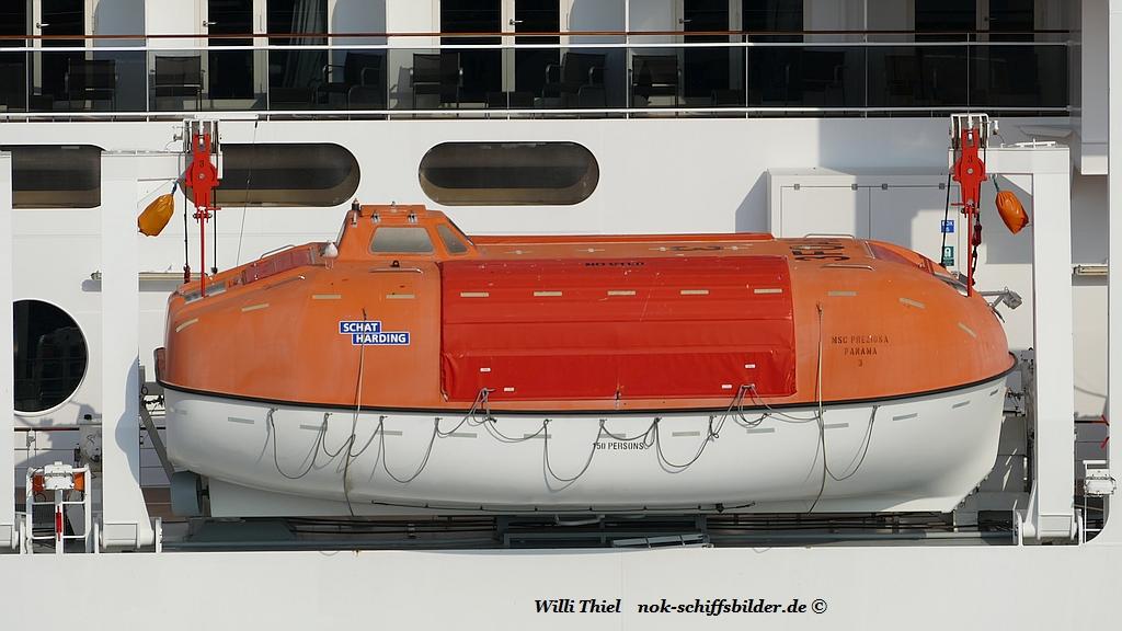 MSC PREZIOSA - Rettungsboot