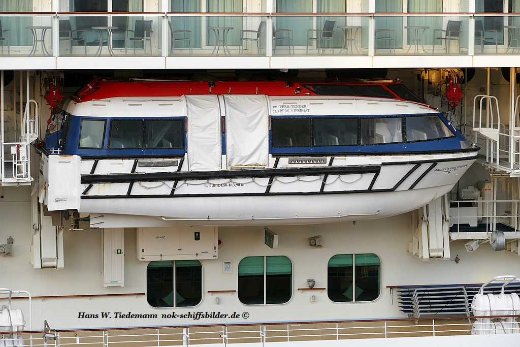 MARELLA DISCOVERY Rettungsboot