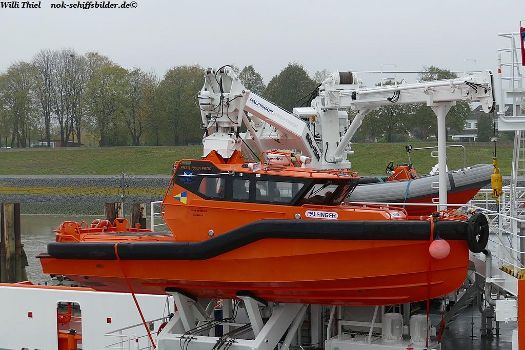 LUNDY SENTINEL , Arbeit-Versetzboot